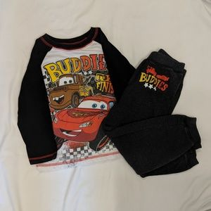 Disney Cars boy's outfit size 4t
